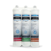 BOANN  6 Month Filter Pack for RO Water Filtration System (Stages 1-3)