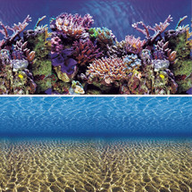 Vepotek Aquarium Background Ocean Seabed /Coral Reef Double sides,48WX24H