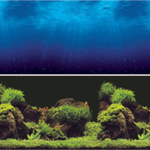 "Vepotek Aquarium Background Double sides (Deep Sea/Water Plants),36""W X 24""H"