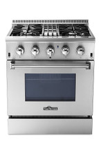 THOR 30 Inch Freestanding Professional Style Dual Fuel Range with 4.2 cu. ft. Oven, 4 Burners, Convection Fan