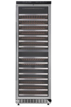 THOR 156 Bottle Built-in & Free Standing Dual Zone Wine Cooler, Stainless Steel