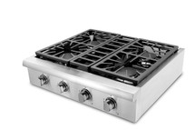 THOR 30 Inch Pro-Style Gas Rangetop with 4 Sealed Burners, Stainless Steel