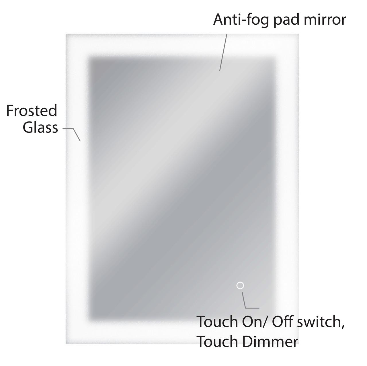 Dyconn Faucet Royal - LED Wall Mounted Backlit Vanity Bathroom LED ...