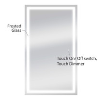 "Dyconn Faucet Edison - LED Wall Mounted Backlit Vanity Bathroom LED Mirror with Touch On/OFF Dimmer & Anti-Fog Function (35""W X 60""H)"