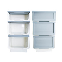 LuxorWare 3 Piece Storage Bins Home Organizer for Kids Toys, Clothes & Kitchen food - Gray Color - Double Pack (6 Bins)
