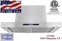 "XtremeAir PX06-I48, 48"" Wide, Easy Clean swing-able baffle Filters, Stainless Steel, Island Mount Range Hood"