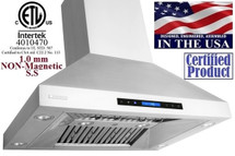 "XtremeAir PX07-I36, 36"" Wide, Easy Clean swing-able baffle Filters, Stainless Steel, Island Mount Range Hood"