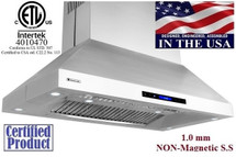 "XtremeAir PX07-I42, 42"" Wide, Easy Clean swing-able baffle Filters, Stainless Steel, Island Mount Range Hood"