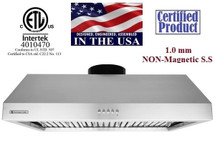 """XtremeAir Ultra Series UL11-U42, 42"""" width, 900 CFM, Baffle filters, 3-Speed Mechanical Buttons, Full Seamless, 1.0 mm Non-magnetic S.S, Under cabinet hood"""