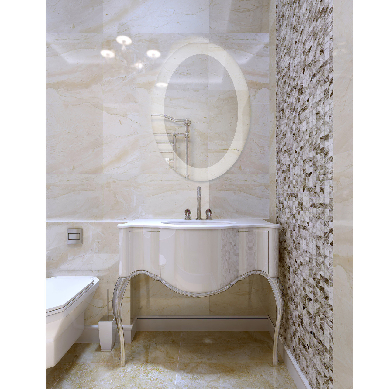 Dyconn Faucet Royal Oval Round LED Wall Mounted Backlit Vanity ...