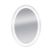 "Dyconn Faucet Royal Oval Round LED Wall Mounted Backlit Vanity Bathroom LED Mirror with Touch On/OFF Dimmer & Anti-Fog Function (25"" W X 35""H)"
