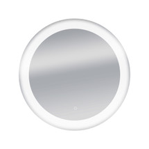 "Dyconn Faucet Circle Round LED Wall Mounted Backlit Vanity Bathroom LED Mirror with Touch On/OFF Dimmer & Anti-Fog Function (34"" Diameter)"
