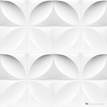 Luxorware 3D Wall Panel Pack of 12 Tiles 32 sqf CE Certified White PVC Panel For TV Walls/Bedroom/Living room (LW3D806)