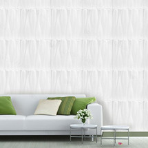 Luxorware 3D Wall Panel Pack of 12 Tiles 32 sqf CE Certified White PVC Panel For TV Walls/Bedroom/Living room (LW3D826)