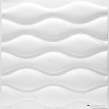 Luxorware 3D Wall Panel Pack of 12 Tiles 32 sqf CE Certified White PVC Panel For TV Walls/Bedroom/Living room (LW3D852)