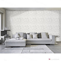 Luxorware 3D Wall Panel Pack of 12 Tiles 32 sqf CE Certified White PVC Panel For TV Walls/Bedroom/Living room (LW3D901)