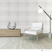 Luxorware 3D Wall Panel Pack of 12 Tiles 32 sqf CE Certified White PVC Panel For TV Walls/Bedroom/Living room (LW3D900)
