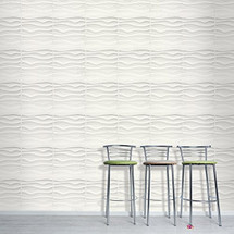 Luxorware 3D Wall Panel Pack of 12 Tiles 32 sqf CE Certified White PVC Panel For TV Walls/Bedroom/Living room (LW3D881)