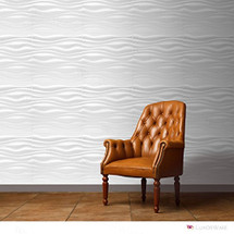 Luxorware 3D Wall Panel Pack of 12 Tiles 32 sqf CE Certified White PVC Panel For TV Walls/Bedroom/Living room (LW3D888)