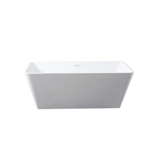 Dyconn Faucet Tesoro Solid Surface Freestanding Bathtub 59 Inch W/Overflow