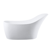 Dyconn Faucet Piccolo Solid Surface Freestanding Bathtub 66.5 In W/Overflow