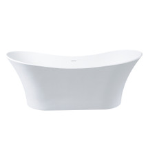 "Dyconn Faucet Solid Surface Freestanding Bathtub 69"" W/Overflow"