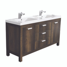 "Dyconn Faucet Massa 60"" Freestanding Bathroom Vanity W/One Piece Solid Surface/Stone Resin Countertop Basin (Vanity & Basin)"