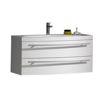 """Dyconn Faucet VCO92W36 36"""" Wall Hung Floating Mount Bathroom Vanity W/One Piece Solid Surface/Stone Resin Countertop Basin"""