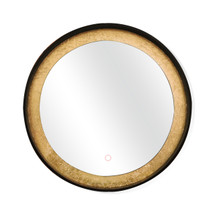 "Dyconn Faucet Apollo Circle Round LED Wall Mounted Backlit Vanity Bathroom LED Mirror with Touch On/OFF Dimmer & Anti-Fog Function (32"" Diameter)"