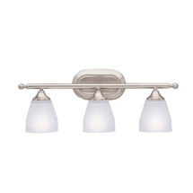 Ansonia Collection Ansonia 3 Light Bath Light in Brushed Nickel