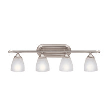 Ansonia Collection Ansonia 4 Light Bath Light in Brushed Nickel