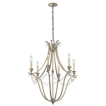 Abellona Collection Abellona 6 Light Chandelier - Sterling Gold SGD