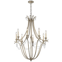Abellona Collection Abellona 8 Light Chandelier - Sterling Gold SGD