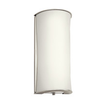 1 Light Fluorescent Wall Sconce - Polished Nickel