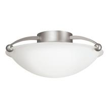 2 Bulb Semi Flush Ceiling Light - Brushed Nickel