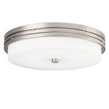 1 Light Flush Mount LED Ceiling Fixture | Brushed