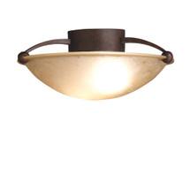 2 Bulb Semi Flush Ceiling Light - Tannery Bronze