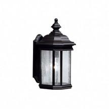 1 Light Outdoor Wall Lantern in Black