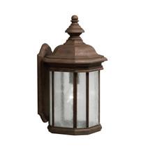 1 Light Outdoor Wall Lantern in Tannery Bronze