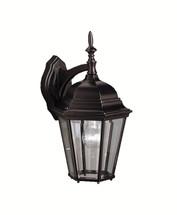 1 Light Outdoor Wall Light - Madison in Black