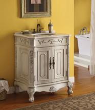 Verena Marble Top Sink, White