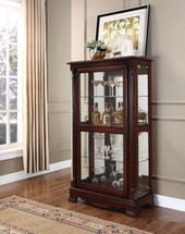 Curio Cabinet with 4 sides doors Cherry