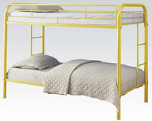 "2"" Tube Twin Metal Bunk Bed"