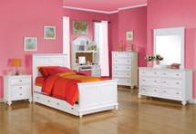 Athena Full Bed, White