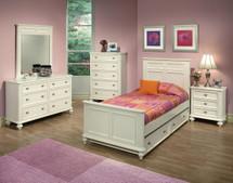 Athena Trundle Bed, White