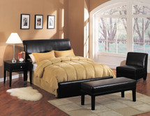 Montego Queen Bed, Bycast Espresso Finish