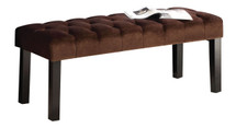 Ion Bench in Brown Suede Finish