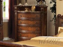 Chest with Marble Top, Dark Cherry Finish