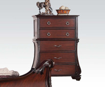 Abramson Traditional Five Drawer Chest in Cherry