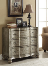 Bedroom Bombay Chest Antique Silver